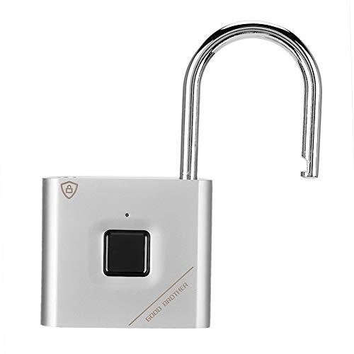Cerradura de puerta USB, candado digital de huellas dactilares, aleación de zinc, cuerpo de metal, candado antirrobo, bicicletas, maletas para bolsos, guardarropas, casilleros escolares,