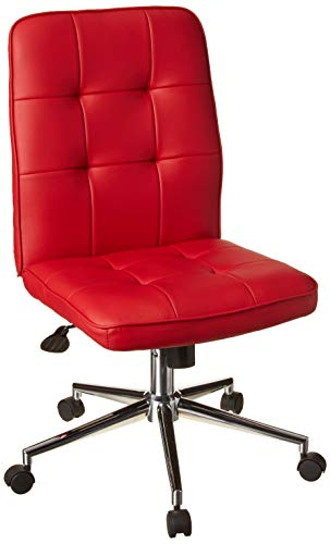 Boss Office Products Mellennial Modern Home Office Chair without Arms in Red
