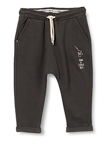 IKKS Junior Pantalon Esprit Sarouel, Noir délavé, 18M Bébé garçon