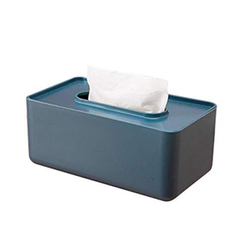 Sdvklly Estilo nórdico Caja de pañuelos de Papel Toalla de Papel Toalla de Toalla para el hogar Decoración de Mesa Organizador Suministros para el hogar (Color : ABlue)