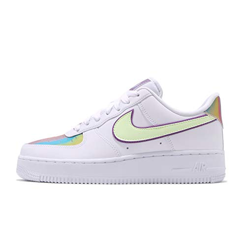 Nike Damen Air Force 1 Easter Basketballschuh, White/Barely Volt-Hyper Blue, 39 EU