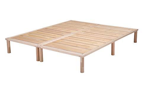 Gigapur G1 29715 Bett | Bettgestell mit Lattenrost | Birke Natur Schicht-Holz | belastbar bis 195 kg je Element | 170 x 200 cm (1 x 80 x 200 cm + 1 x 90 x 200 cm)