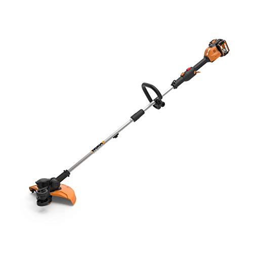 """Worx WG184 40V (2.0Ah) 13"""" Cordless Grass Trimmer/Edger with in-Line Edging, and Command Feed, 1 hr. Dual Charger, 2 Batteries (Renewed)"""