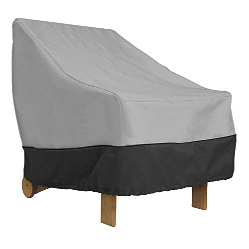 Wifehelper Outdoor Tuin Meubelhoezen, Waterdichte Oxford Doek Meubelhoes voor Outdoor Patio Stoel Sofa Cover Black + Gray