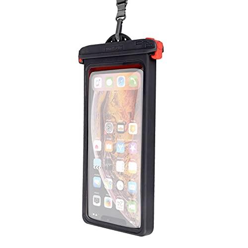 lossomly Funda impermeable para teléfono móvil, resistente al agua – hasta 6,9 pulgadas, funda de TPU resistente al agua IPX8, para vacaciones, natación, baño