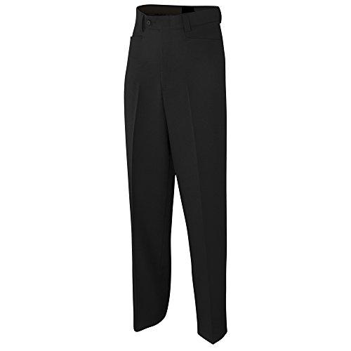 ADAMS USA admbs275–48-bk Schiedsrichter Basketball Flache Vorderseite Poly/Spandex Uniform Hose, schwarz, Größe 48