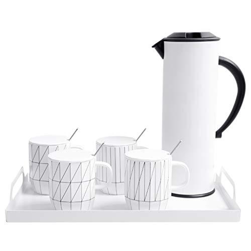 GTSTA Four Sets Of Tea Sets, Simple Teapot Mok Keramiek Horeca Thee Set Inhoud: 1000ml