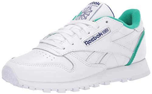 Reebok Classic Sneaker da Uomo in Pelle, (Bianco Verde Chiaro Cobalto), 42.5 EU