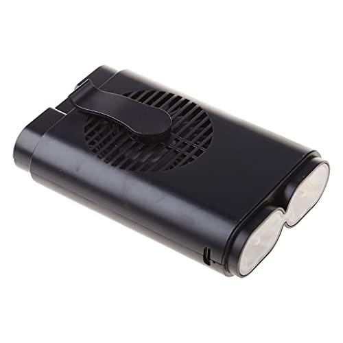 CAREMiLLE - Ventilador portátil para Colgar en la Cintura, Cuello, Manos Libres, Linterna USB, 3 velocidades, Ajustable, Mini Ventilador de Escritorio, Negro