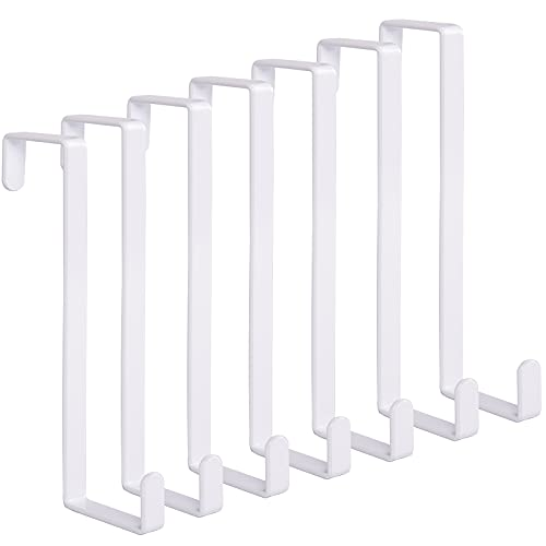 Woillion Over the Door Hooks for Clothes, 7Packs Sturdy Metal Over the Door Hanger, Z-Shaped Reversible Over the Door Hook Fitting 2 Sized Doors, Hold Up to 20Lb, for Hanging Clothes/Towels/Coats/Cats