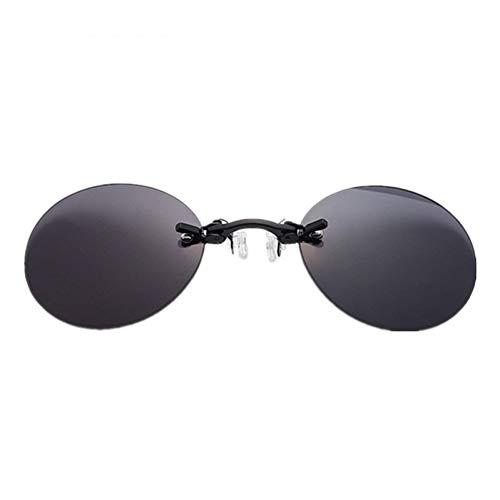 CCGSDJ Mode Sonnenbrillen Männer Vintage Mini Runde Sonnenbrille Matrix Morpheus Randlose Sonnenbrille