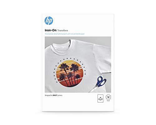 HP Transferpapier zum Aufbügeln, 170g/m2, DIN A4, 12 Blatt