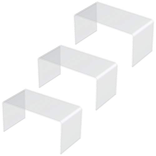 3 Einheiten von 20 x 10 x 10 cm Plexiglas-Acryl-Rückseite der Vitrine, 3 mm dick, maximale Belastung 0,75 kg/Ständer