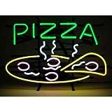 LeeQueen Creative Design Customized Pizza Slice Open Neon Lamp Sign 17inx14in Bar Light Glass Artwork