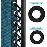 Replacement Cords(8 Cords), Keten Universal Replacement Laces for Zero Gravity Style Chair, Recliners (Black), Gravity Chair Repair Kit for Lounge Chair,Bunqee Chair, Anti Gravity Chair(8 Ropes)