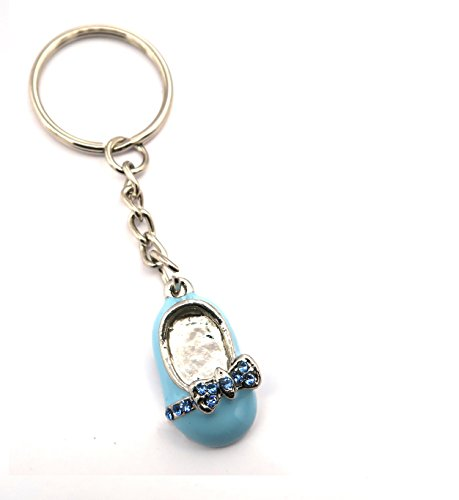 schmuck-stadt Baby Schuh Schlüsselanhänger silberfarben Taschenanhänger