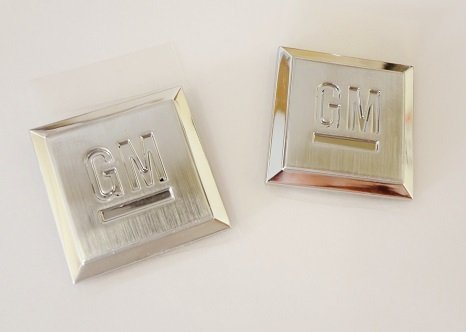 Gm Shield Emblem Of Excellence Gm Squares Small Size For Cars Pair