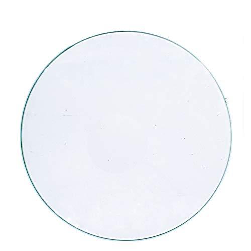 HUANRUOBAIHUO Impresora 3D Placa Redonda borosilicato de Vidrio calentada Cama Diámetro 200/220 / 240 mm Plano Transparente de Vidrio Templado for Delta Kossel Partes de la Impresora 3D