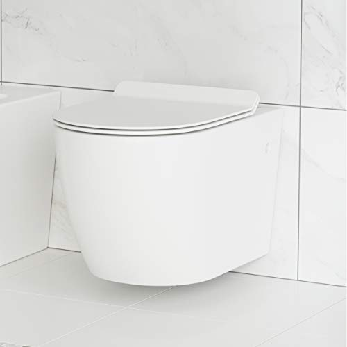 Swiss Madison Well Made Forever SM-WT449 St. Tropez Wall Hung Toilet, Glossy White