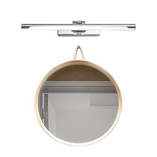 LED-Badspiegelscheinwerfer Spiegel Wandleuchte Schminkspiegel Schrankbeleuchtung Versenkbares Chromrohr LED 6500K (Size : 530 * 240 * 55mm 9W)