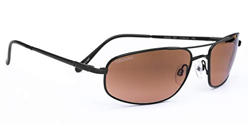Serengeti Velocity Sunglasses (Satin Black) with Silicon Gel Nose Pads