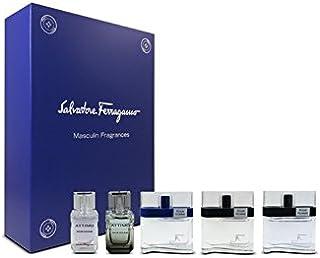 Salvatore Ferragamo Eau de Toilette Spray 5 Pieces Gift Set for Men, Pack of 5