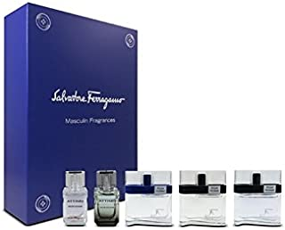Salvatore Ferragamo 5 Piece Mini Eau De Toilette Set for Men