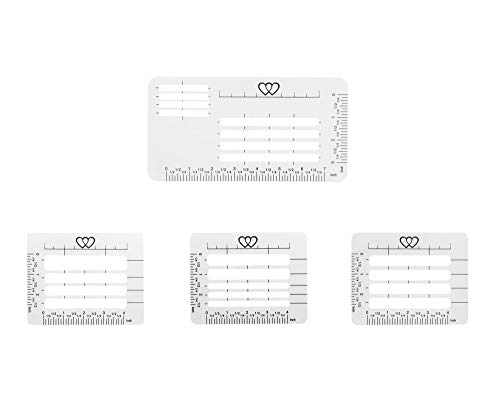 Ruwado 4 Pcs Envelop Addressing Guide Stencil Templates for Thank You Cards Letters Wedding Party Christmas Invitation Cards Scrapbooking Writing Lines Ruler