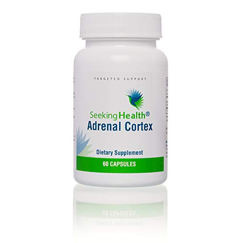 Adrenal Cortex | Provides 50 mg of Adrenal Cortex Per Capsule | 60-Easy-to-Swallow Vegetarian Capsules | Non-GMO | Free of Magnesium Stearate | Physician Formulated | Seeking Health