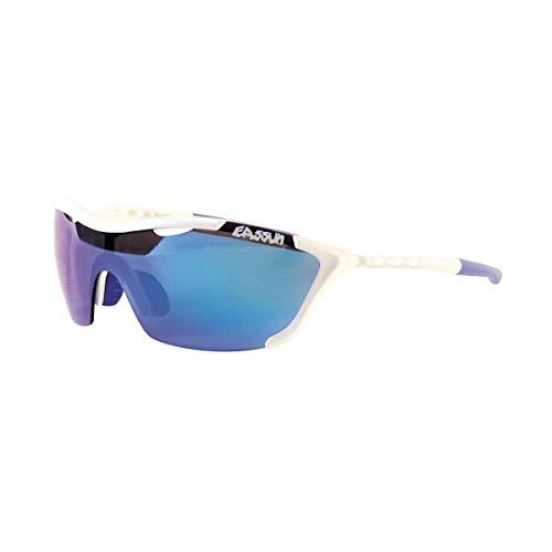 EASSUN Gafas de Running Record, Solares Cat 2 o 3 y Ultraligeras con Sistema de Ventilación Airflow - Blanco, Azul Revo, Cat 3