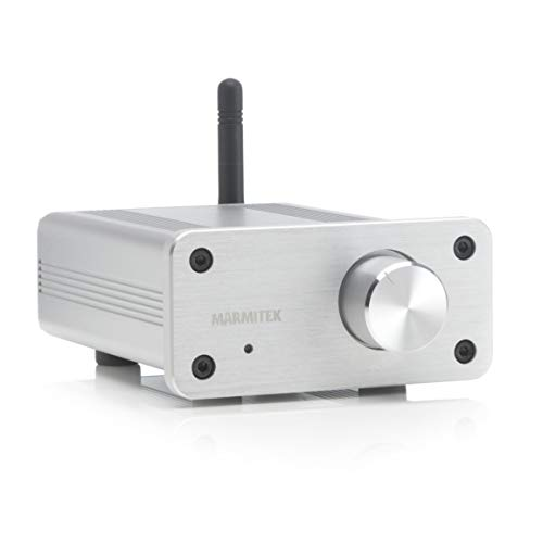 Marmitek BoomBoom 460 - Bluetooth audiomvanger met versterker - aptX - AUX ingang - volumeregeling - metalen behuizing - sluit uw oude luidsprekers aan