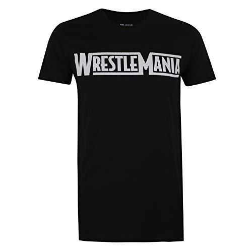 WWE Herren Wrestlemania T-Shirt, Black, Large
