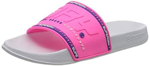 Superdry Damen City NEON Pool Slide Badeschuhe, Pink (Fluro Pink 28r), 38/39 EU