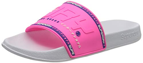 Superdry City Neon Pool Slide, Zapatos de Playa y Piscina Mujer, Rosa (Fluro Pink 28r), 40/41 EU