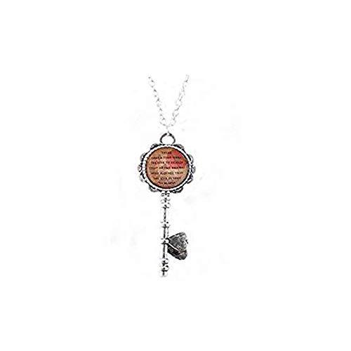 aaaaAA Anais Nin Zitat Halskette Glas Schlüsselanhänger Geschenkidee inspirierendes Zitat ermutigendes Zitat Mut Zitat