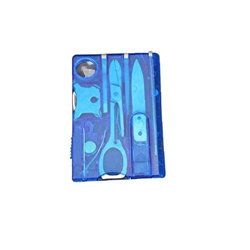 GGOOD 12 in 1 Survival Kit Multi Card Wanderkarten-Tool Zubehör Für Outdoor-blau Für Outdoor Sport