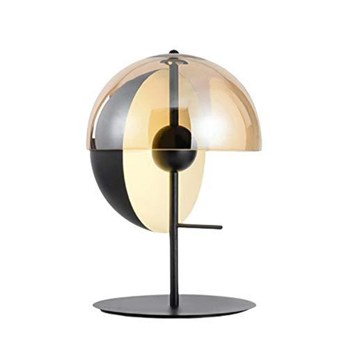 FHUA Lámpara Escritorio Lámpara Personalidad Simple Creativo Semicirculares Semicirculares Pantalla Modelo Moderno Habitación Dormitorio Lámpara de mesita de Noche Diámetro 300mm * Altos 500mm