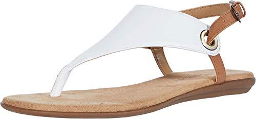 Aerosoles Women's Thong Sandal Flip-Flop, White, 7.5 B (M)