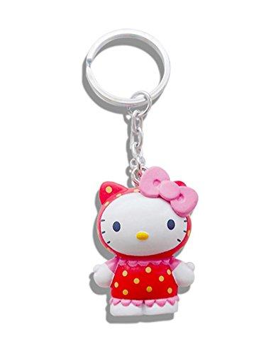 Echter Sanrio Hello Kitty 'Raspberry' 3D-Schlüsselanhänger mit Schlüsselanhänger