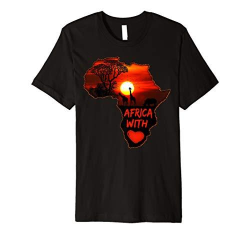 Karte von Afrika mit Love South African Sunset Safari