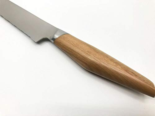 kasaneかさねsumikamaスミカマ包丁軽い全鋼ハイカーボンステンレスヤマザクラ(パン切り包丁21cm)