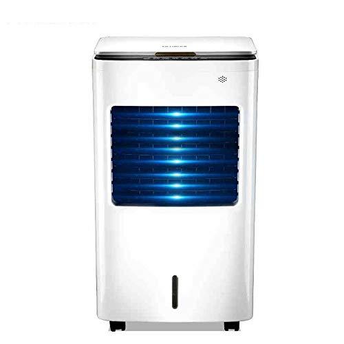 Enfriador de Aire , Acondicionador de aire portátil, refrigerador de aire del ventilador en silencio frío y cálido de doble uso, enfriamiento del ciclo, móvil portátil, humidificación y purificación,