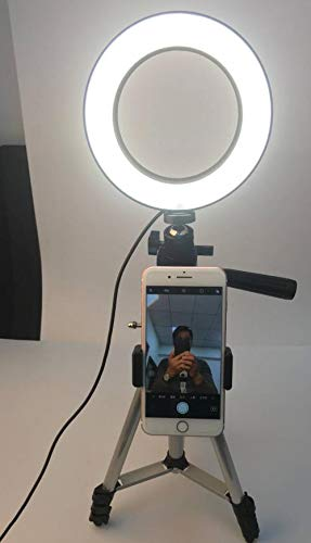 DSLR Photographic Studio Selfie Ring Light with Camera Photo Dimmable LED Lighting with USB Cable and Mini Tripod
