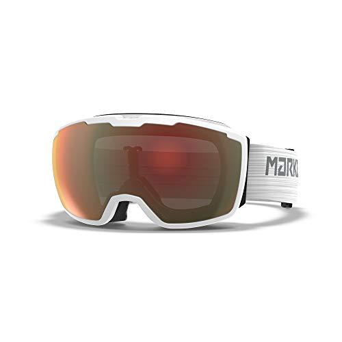 Marker Unisex– Erwachsene Perspective White w/Surround Mirror Skibrille, Einheitsgröße