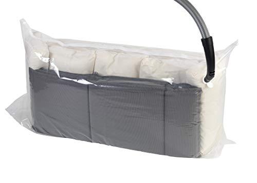 Wenko Vakuum wird mit dem Staubsauger erzeugt und dadurch bis zu 75 % Platz gespart