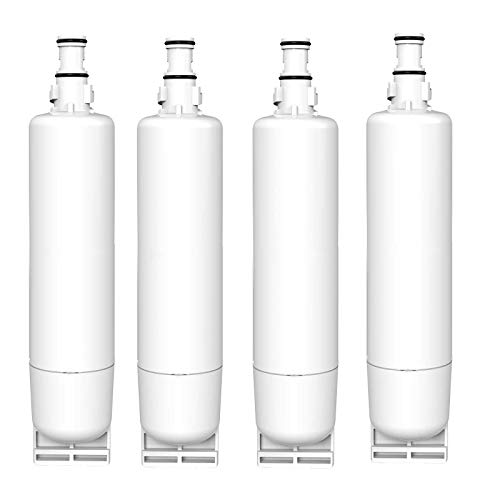Refrigerator Water Filter Compatible with Whirlpool SBS002 S20BRS 4396508 481281729632 SBS004 Kenmore 46-9908 46-9908 46-9010 KitchenAid 4396547 4396163 4396509 2203221 Fridge(4Pack)