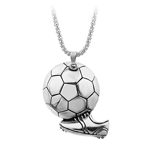 DONGZEKUN Damenhalskette Hängende Fußball-Fußball-Schuh-Schuhe, Basketball-Anhänger, Silberne Farbe Der Halsketten-Jungen-Kind-Geschenk-Halsketten-Sport-Art Der Halsketten-Männer
