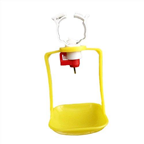 adhere to Fly 10 Pcs automatique Buveurs de poulet mamelon Oiseaux boire acier inoxydable Plastique volaille d'eau Feeder