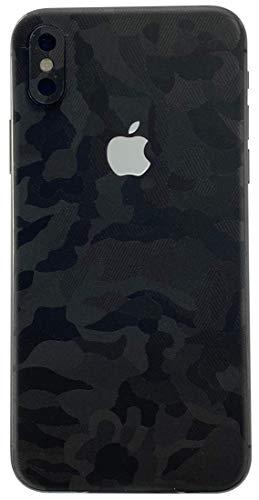 TKCase iPhone XS Skin Rückseite Schutzfolie Folie Kratzschutz (Shadow Black)
