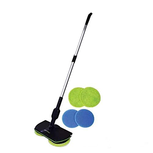 Cecoe Cordless Electric Mop - Spin Maid - Rechargeable, Scrubber, Waxer Quiet, Powerful Cleaner Spin Scrubber & Buffer, Polisher for Hard Wood, Tile, Vinyl, Marble, Laminate Floor